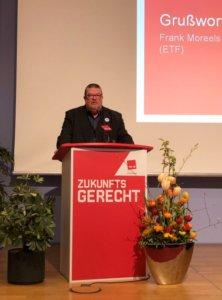 Frank  Moreels presents Fair Transport at ver.di conference