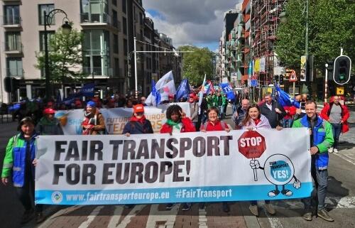 ETF joins ETUC demo for a fairer EU