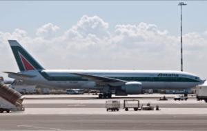 Alitalia Plane on ground