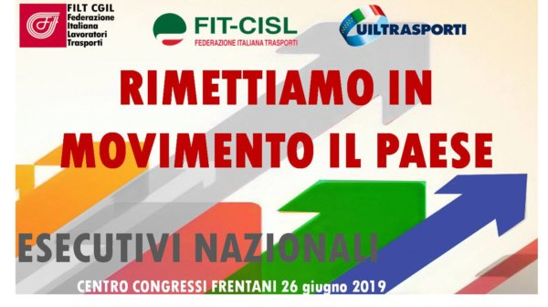 Banner for Italian unions' joint Executive Committee